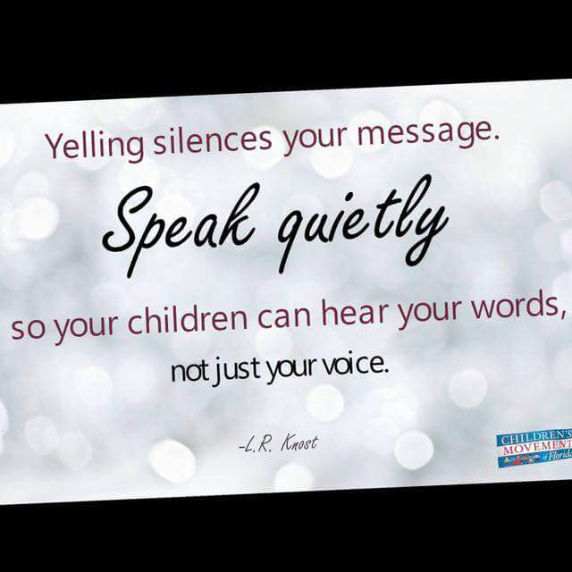yelling silences message